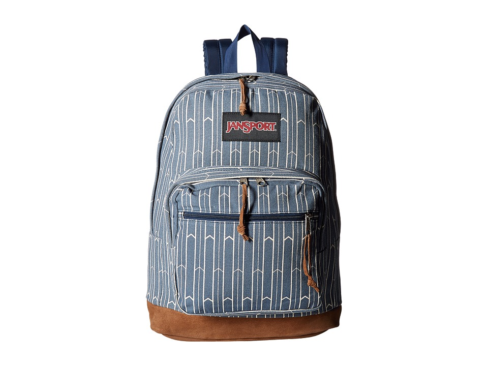 JanSport - Right Pack Expressions (Faded Navy Wayward Arrows) Backpack Bags