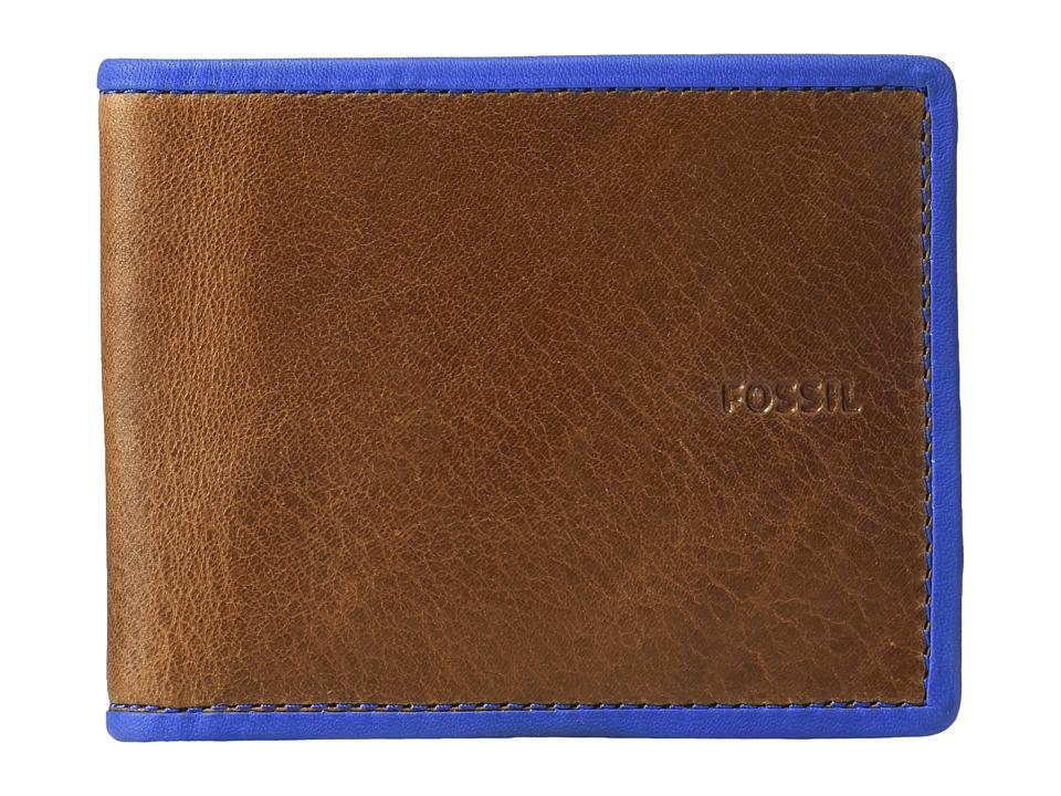 Fossil - Harris RFID Bifold (Blue) Bi-fold Wallet