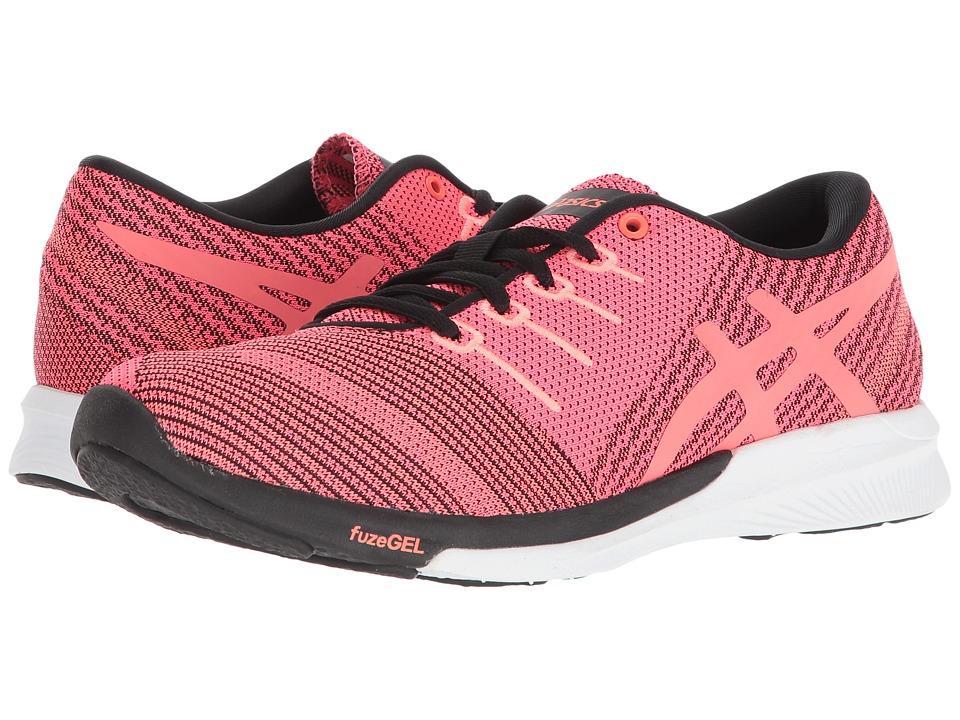 ASICS fuzeX Knit (Pink Glo/Flash Coral/Black) Women