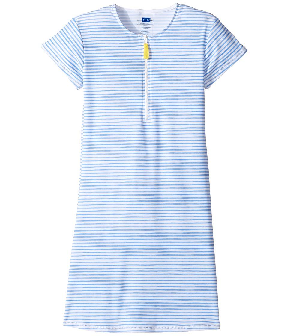Toobydoo - Blue Rashguard Dress (Infant/Toddler/Little Kids/Big Kids) (Blue/White) Girl's Dress
