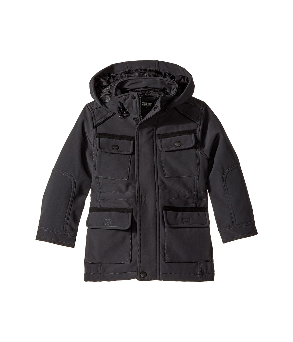 Urban Republic Kids - Softshell Bonded Jacket (Toddler) (Pewter) Boy's Coat