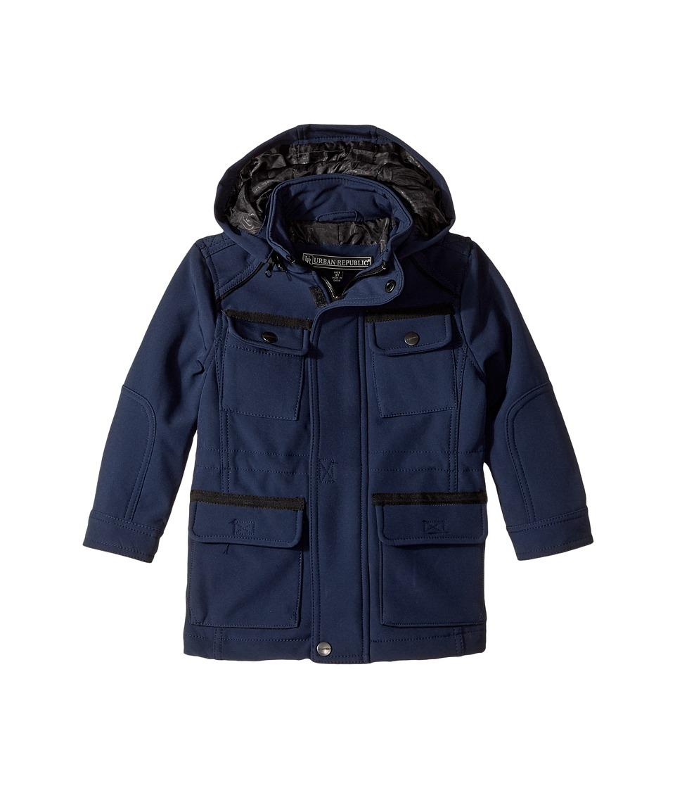 Urban Republic Kids Softshell Bonded Jacket (Toddler) (Navy) Boy