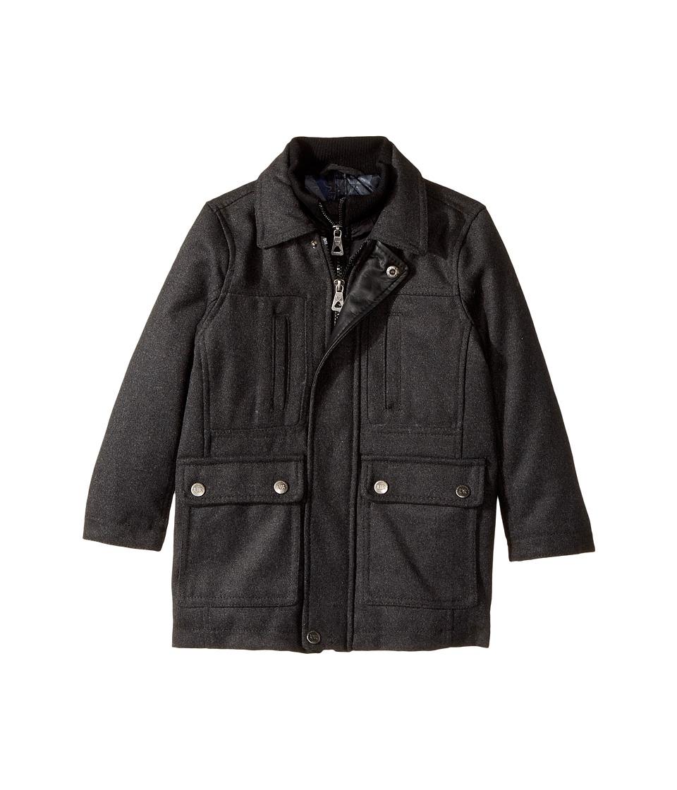 Urban Republic Kids - Military Wool Jacket (Toddler) (Charcoal) Boy's Coat