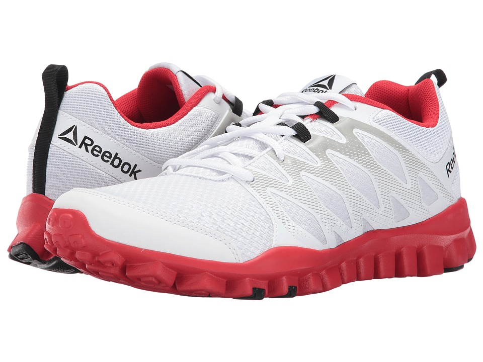 Reebok - RealFlex Train 4.0 (White/Skull Grey/Primal Red) Men's Cross Training Shoes