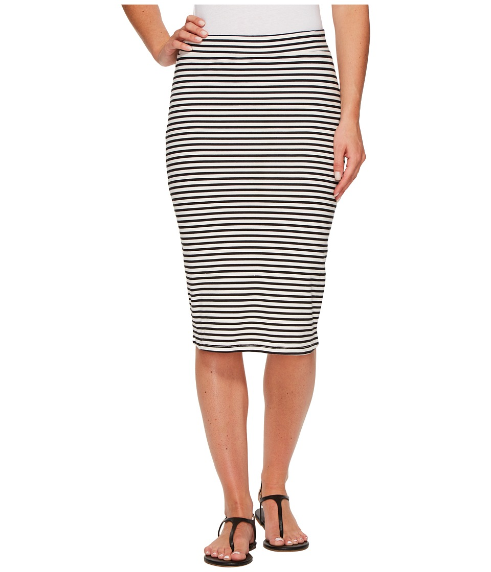 Roxy - Call Up In Dreams Stripe Midi Bodycon Skirt (Marshmallow Classic Stripe) Women's Skirt