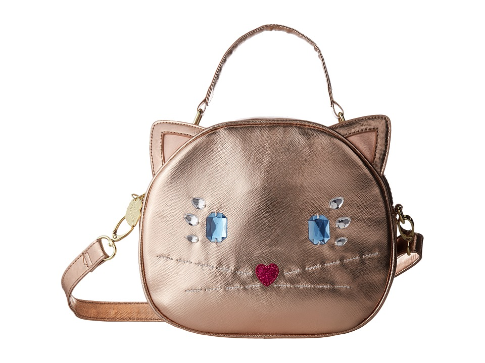 Luv Betsey - Meow Kitch Petite Satchel (Rose Gold) Handbags