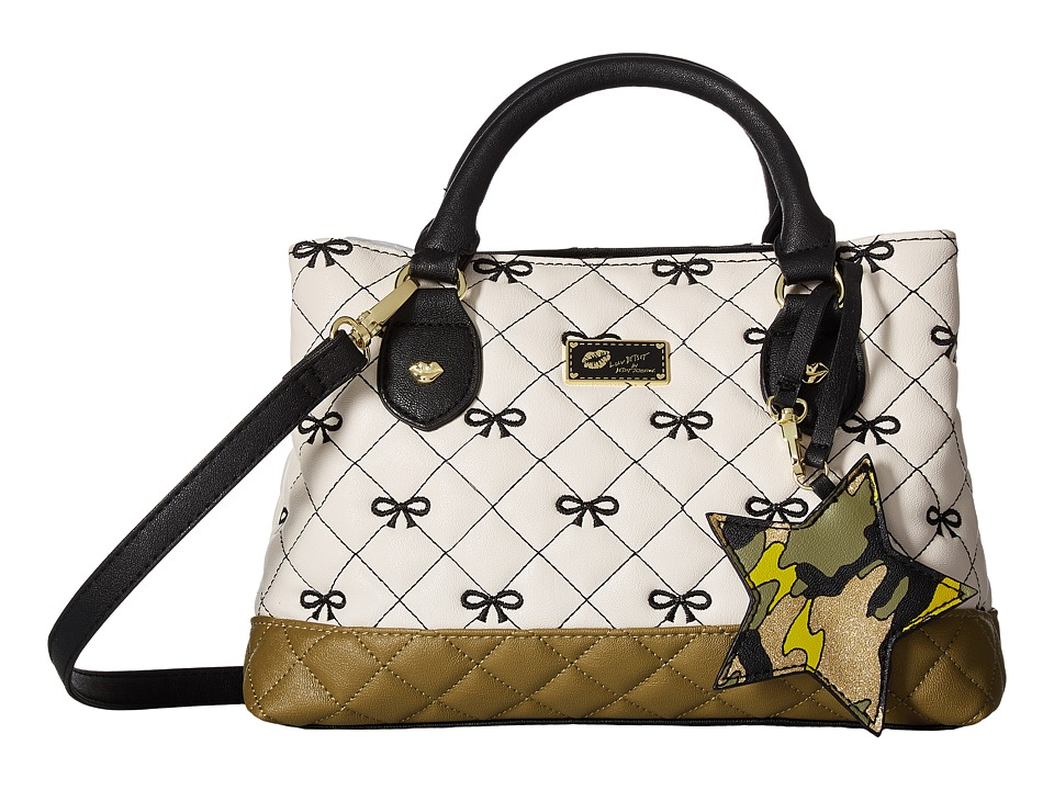 Luv Betsey - Candi Quilted Mini Triple Compartment Satchel (Irish Crem) Satchel Handbags