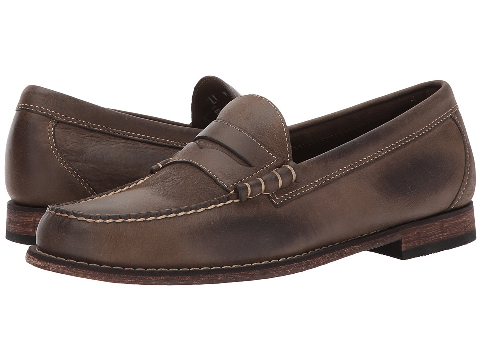 G.H. Bass & Co. Hayden Weejuns (Brown Distressed Tumbled Full Grain) Men