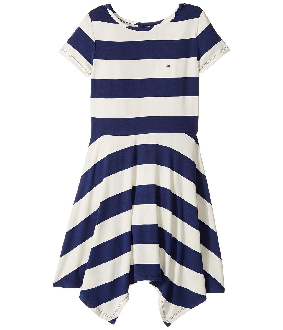 Tommy Hilfiger Kids - Yarn-Dye Handkerchief Dress (Big Kids) (Whisper White) Girl's Dress