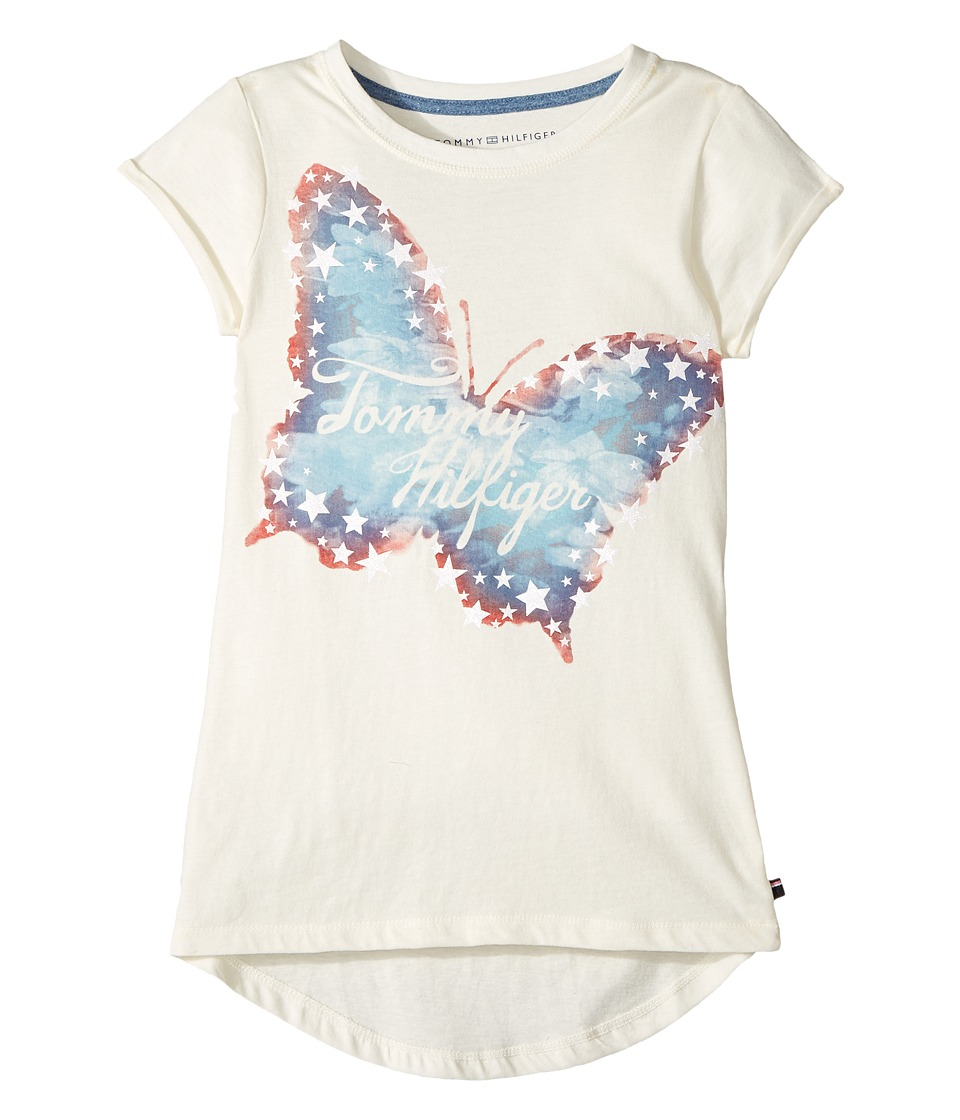 Tommy Hilfiger Kids - Butterfly Tee (Big Kids) (Whisper White) Girl's T Shirt