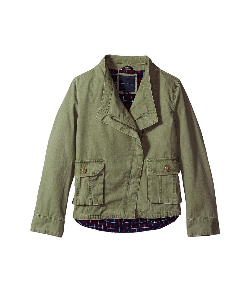 Tommy Hilfiger Kids Cargo Plaid Jacket (Big Kids) (Sagier Green) Girl