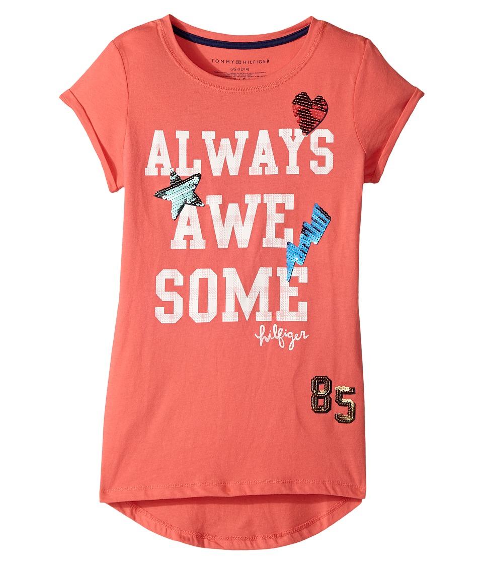 Tommy Hilfiger Kids - Always Awesome Tee (Big Kids) (Amaranth) Girl's T Shirt