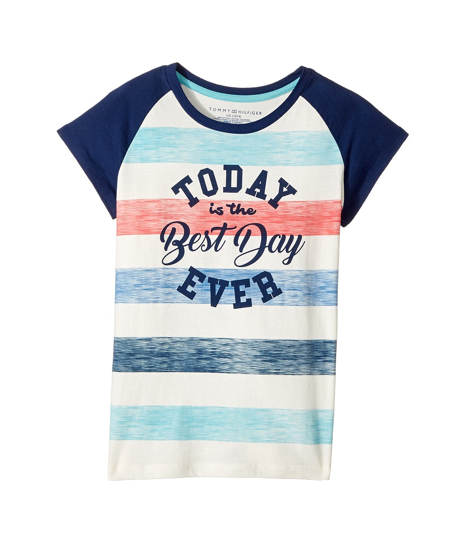 Tommy Hilfiger Kids - Best Day Ever Tee (Big Kids) (Whisper White) Girl's T Shirt