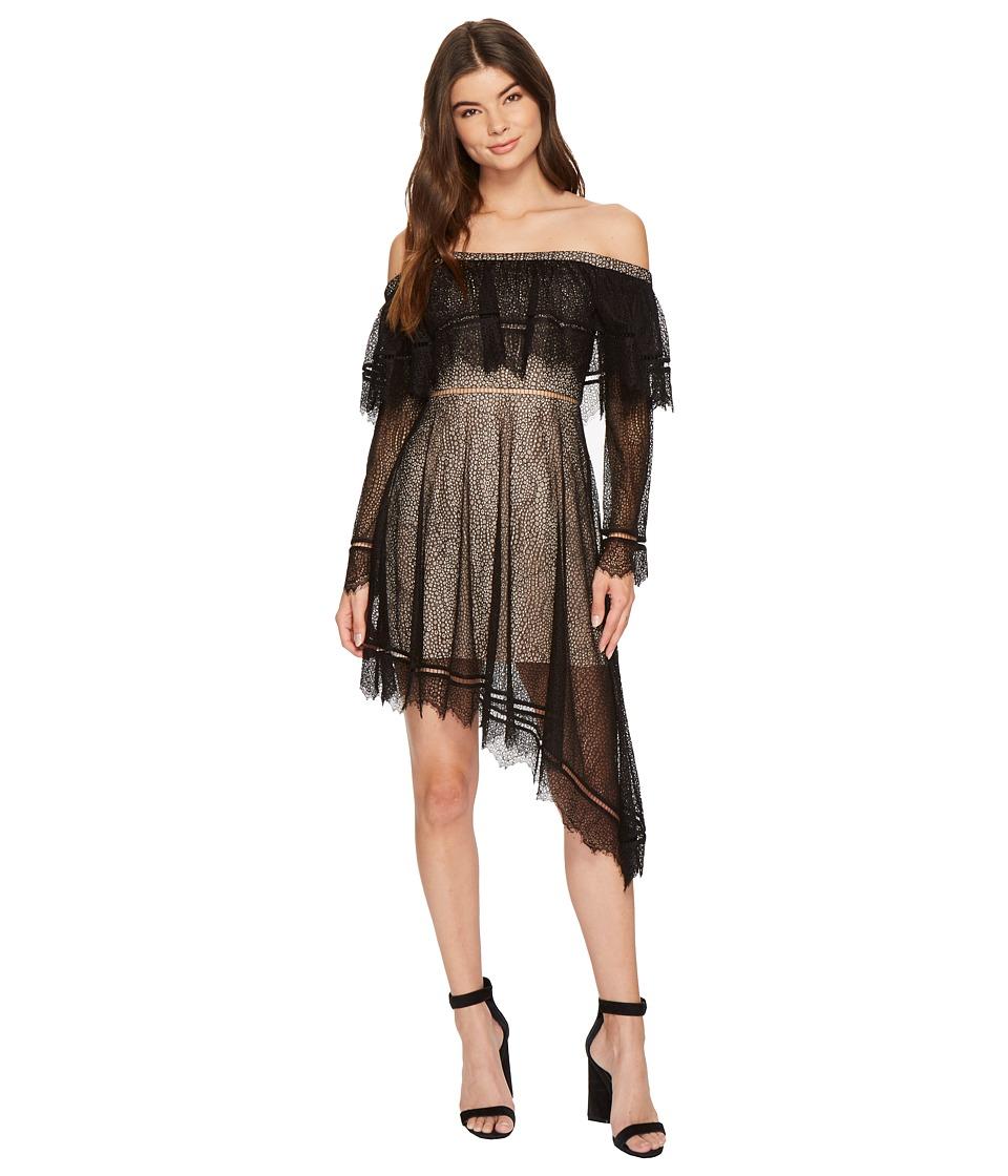 KEEPSAKE THE LABEL Slide Long Sleeve Mini Dress (Black) Women