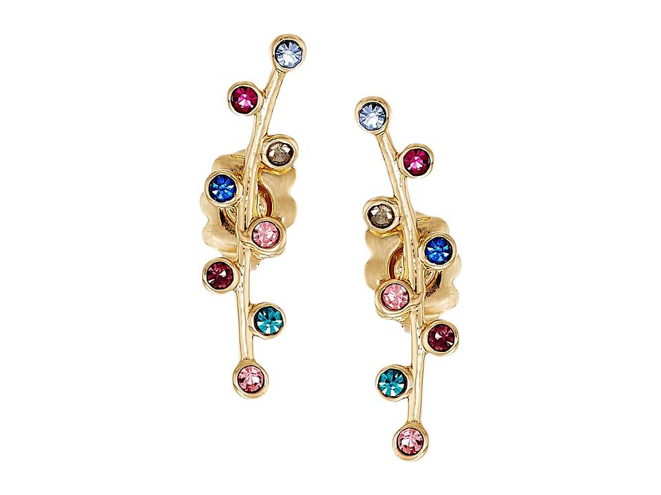 Rebecca Minkoff - Bubble Stone Ear Climber Earrings (Gold/Bright Multi) Earring
