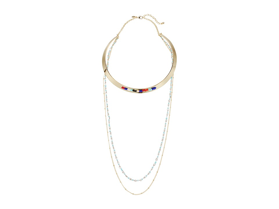 Rebecca Minkoff - Louisa Layered Collar Necklace (Gold/Multi) Necklace