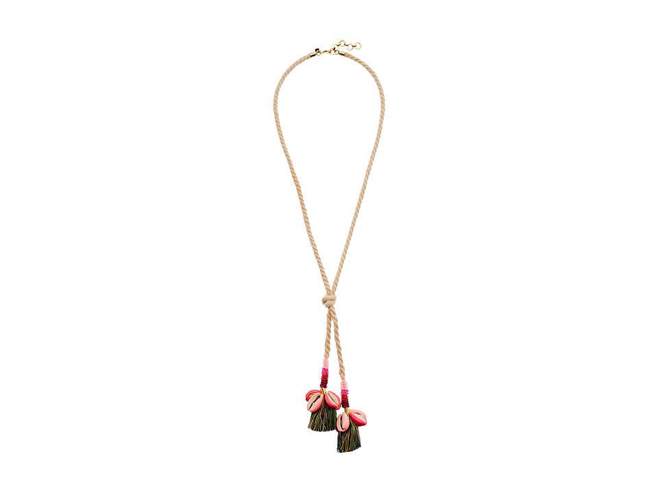 Rebecca Minkoff - Lola Rope Lariat Necklace with Tassels (Neutral Multi) Necklace