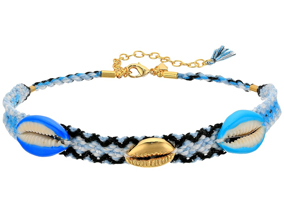 Rebecca Minkoff - Lola Friendship Choker Necklace (Blue Multi) Necklace