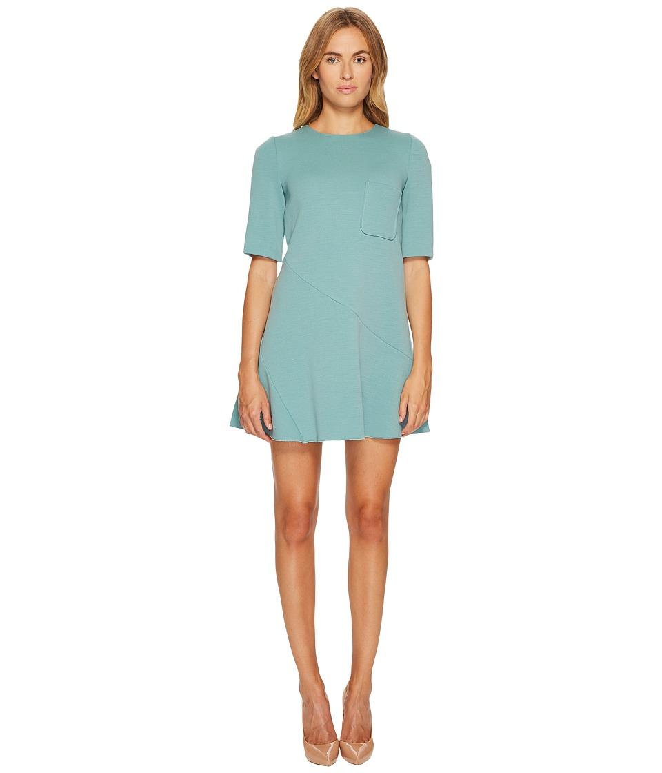 M Missoni - Solid Woven Dress w/ Pocket (Sea) Women's Dress