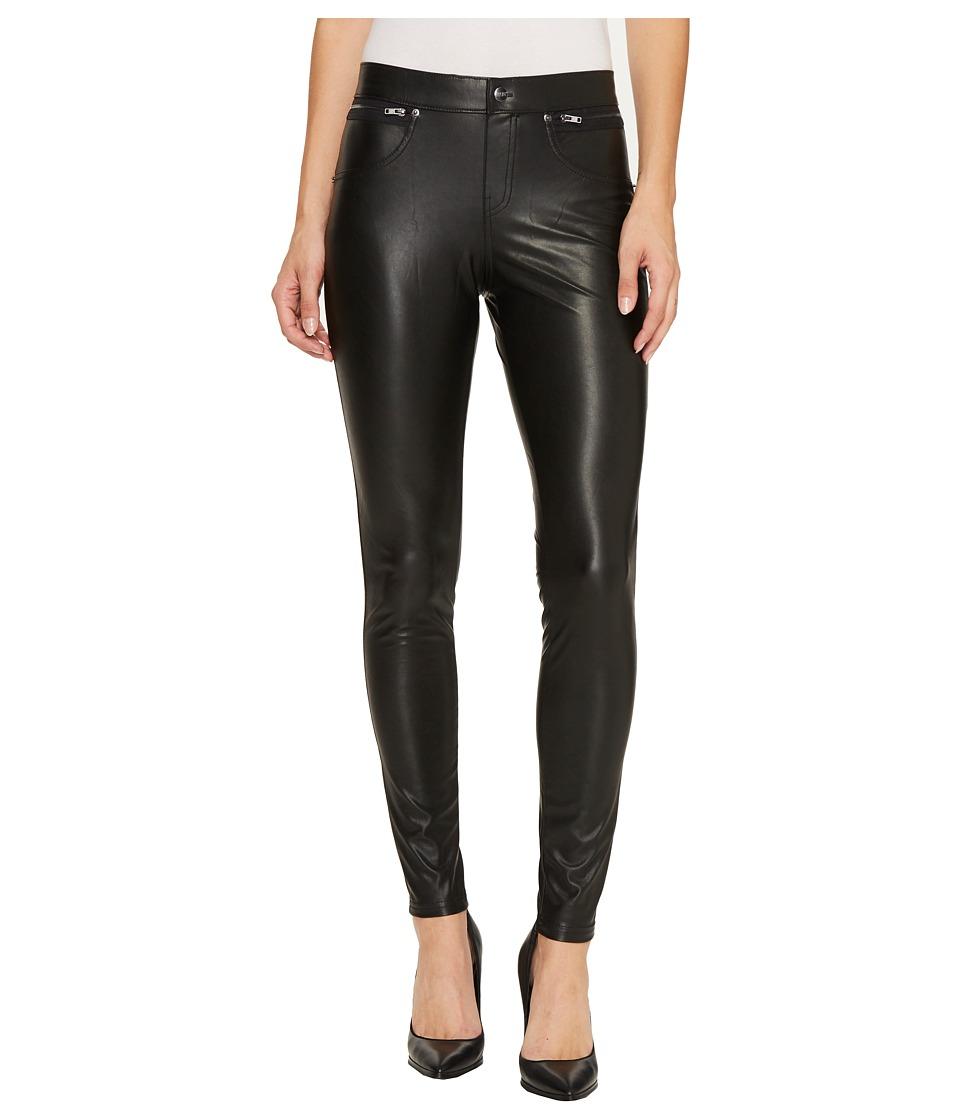 HUE Leatherette Leggings (Black) Women