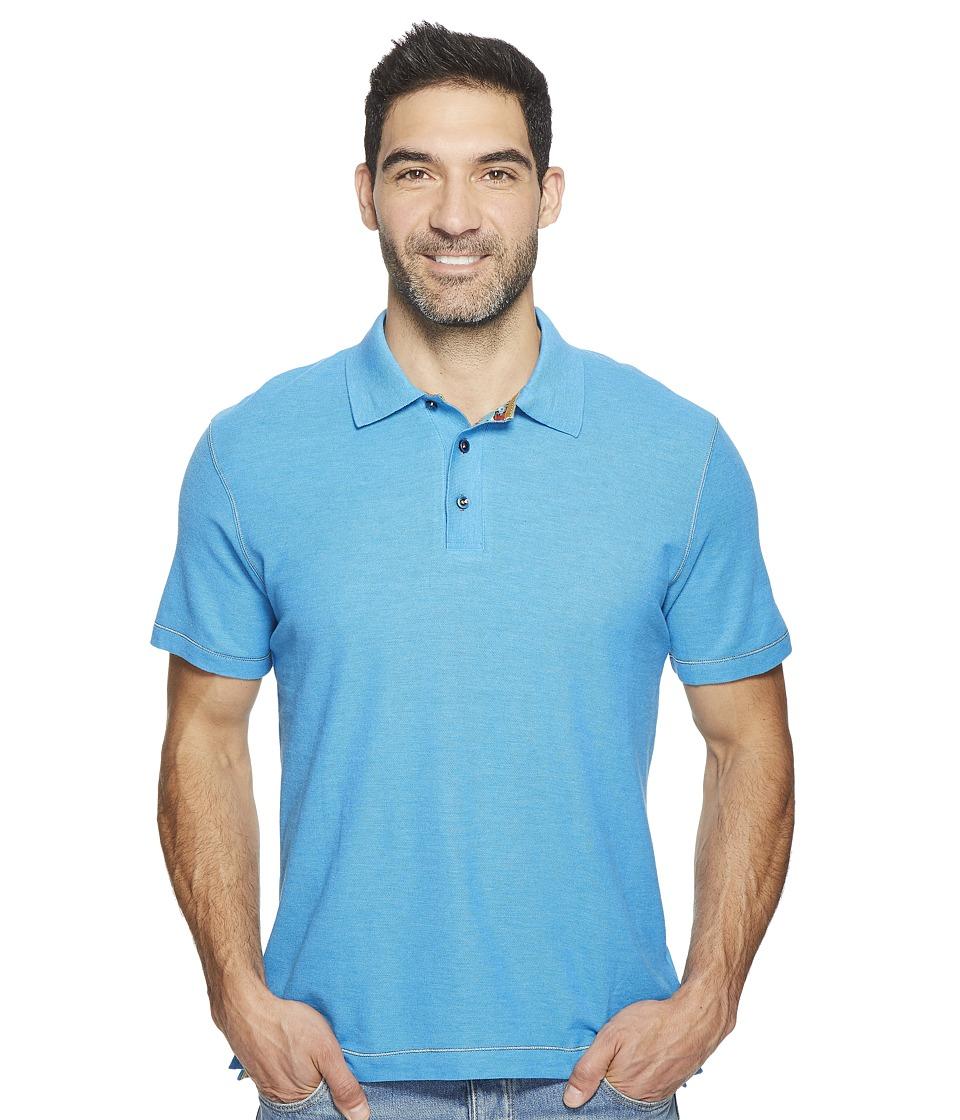 Robert Graham - Messenger Polo (Heather Turquoise) Men's Short Sleeve Pullover