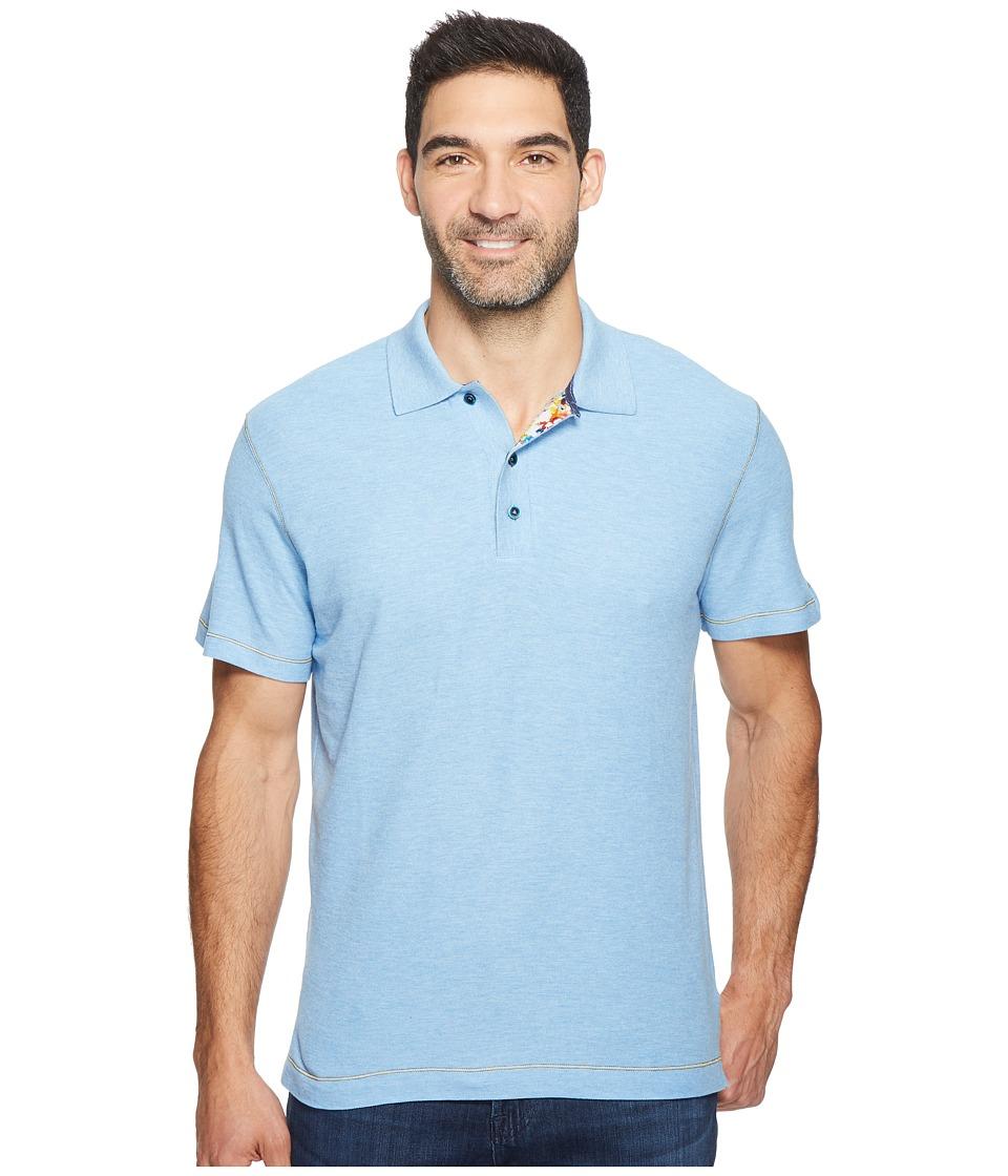 Robert Graham - Messenger Polo (Heather Chambray) Men's Short Sleeve Pullover