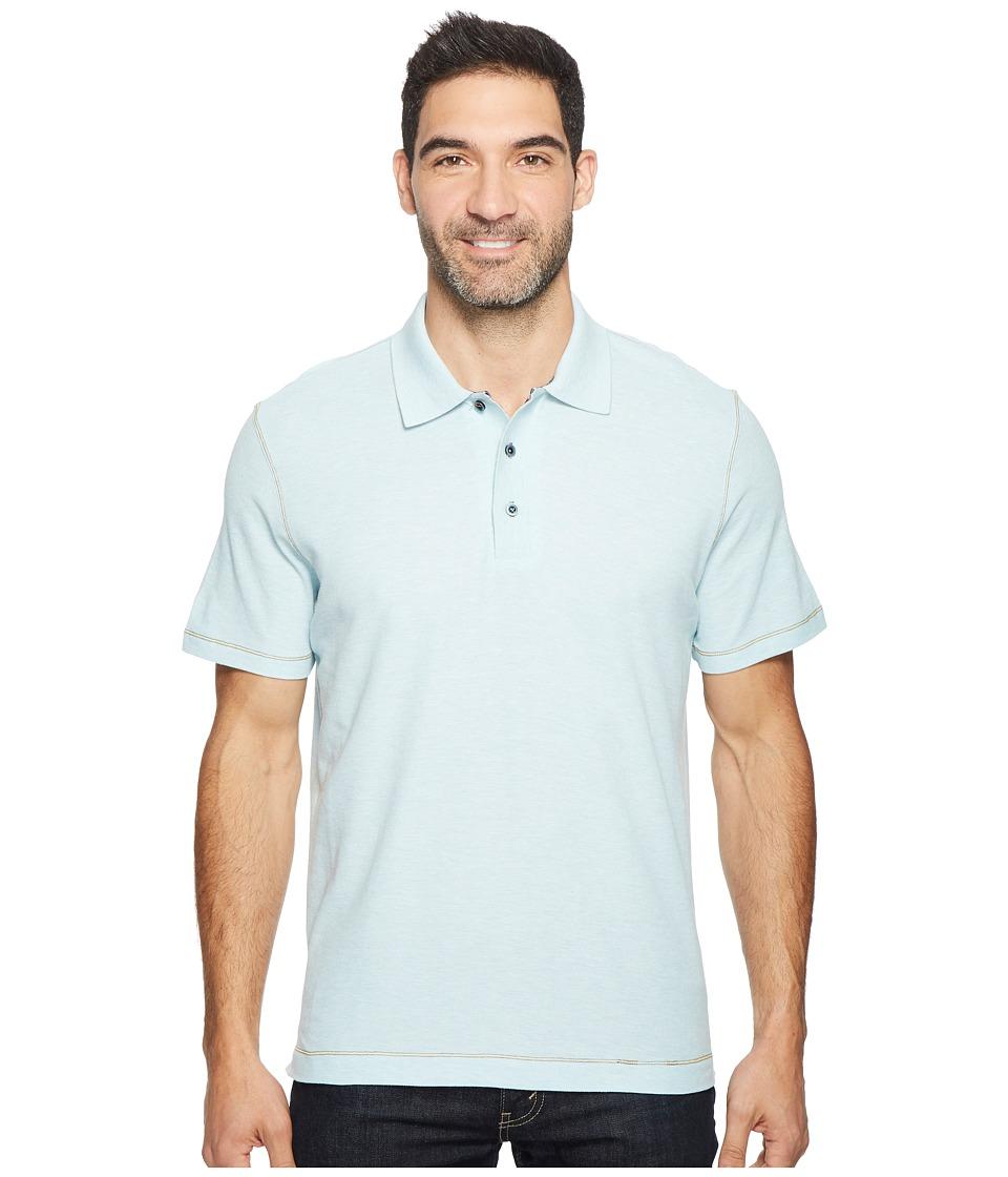 Robert Graham - Messenger Polo (Heather Sky) Men's Short Sleeve Pullover