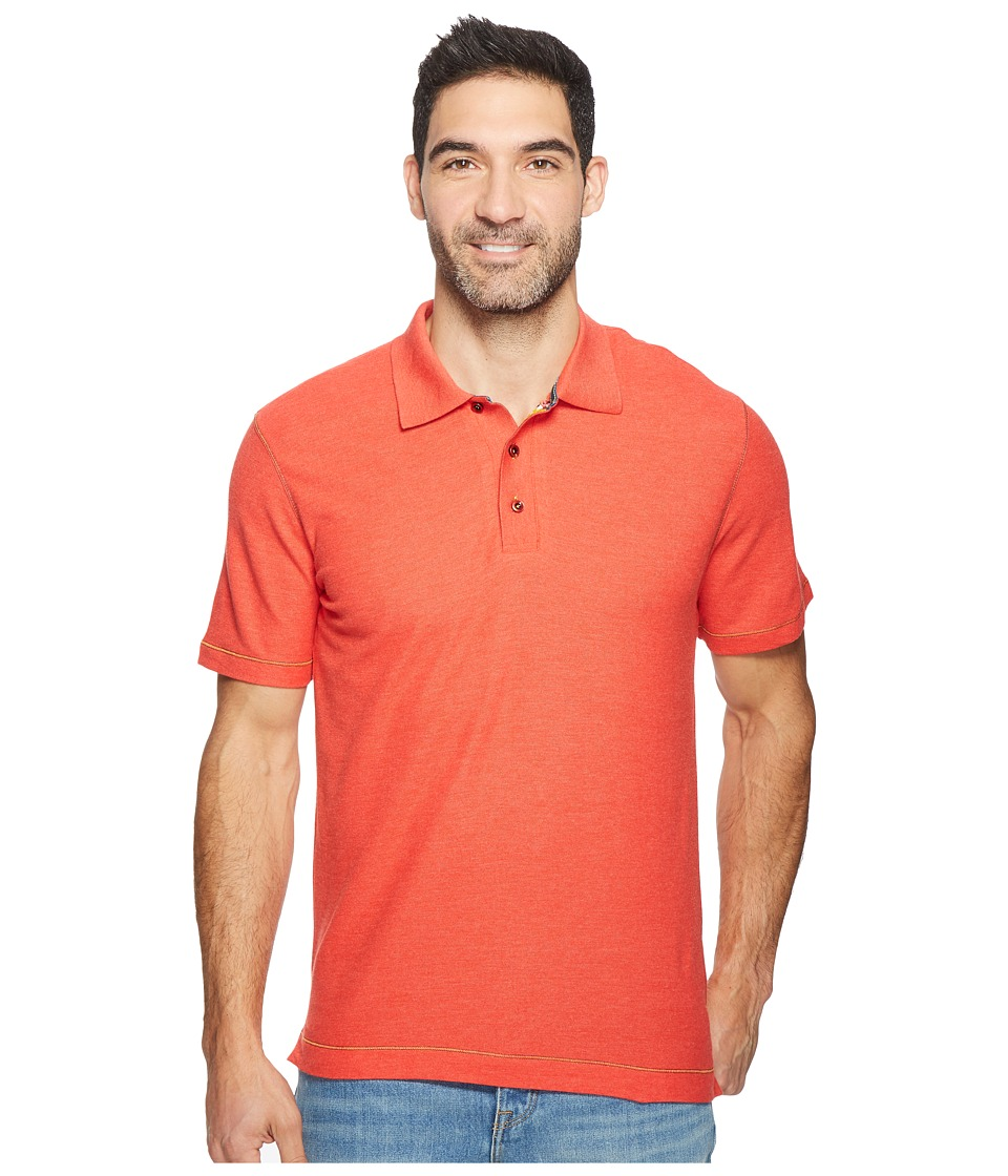 Robert Graham - Messenger Polo (Heather Strawberry) Men's Short Sleeve Pullover