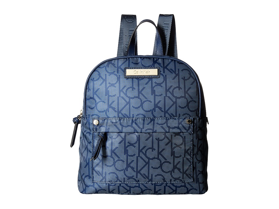 Calvin Klein - Nylon Backpack (Dot Navy) Backpack Bags