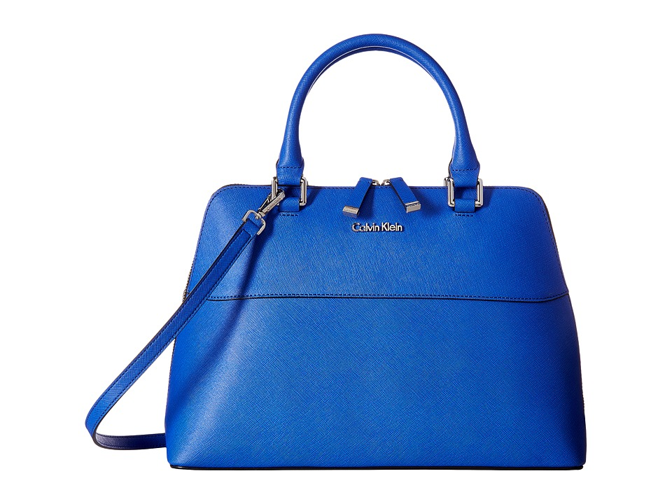 Calvin Klein - Rowan Saffiano Satchel (Royal) Satchel Handbags