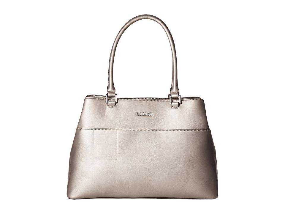 Calvin Klein - Fara Solid PVC Tote (Metallic Taupe) Tote Handbags