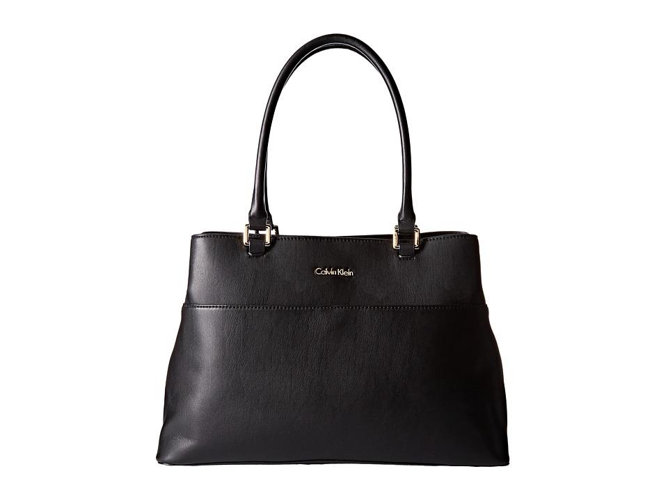 Calvin Klein - Fara Solid PVC Tote (Black) Tote Handbags