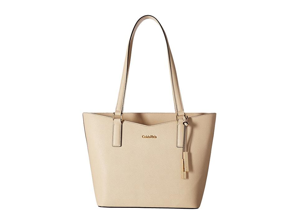 Calvin Klein - Key Item Saffiano Tote (Wheat) Tote Handbags