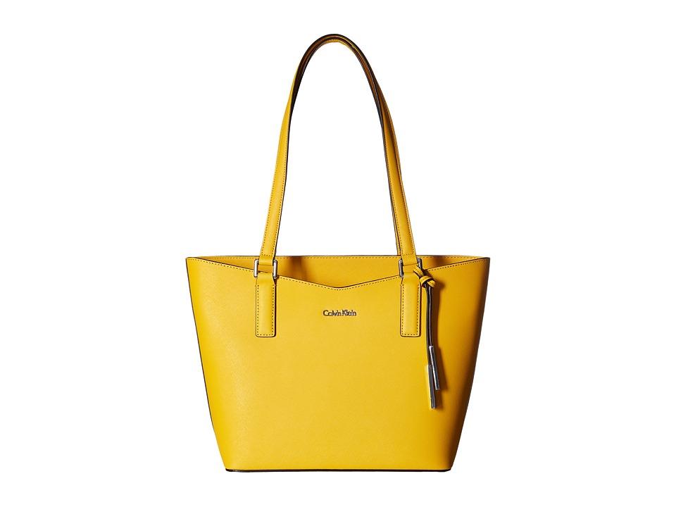 Calvin Klein - Key Item Saffiano Tote (Mango) Tote Handbags