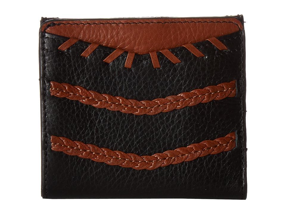 Fossil - RFID Weave Caroline Mini (Black/Brown) Handbags