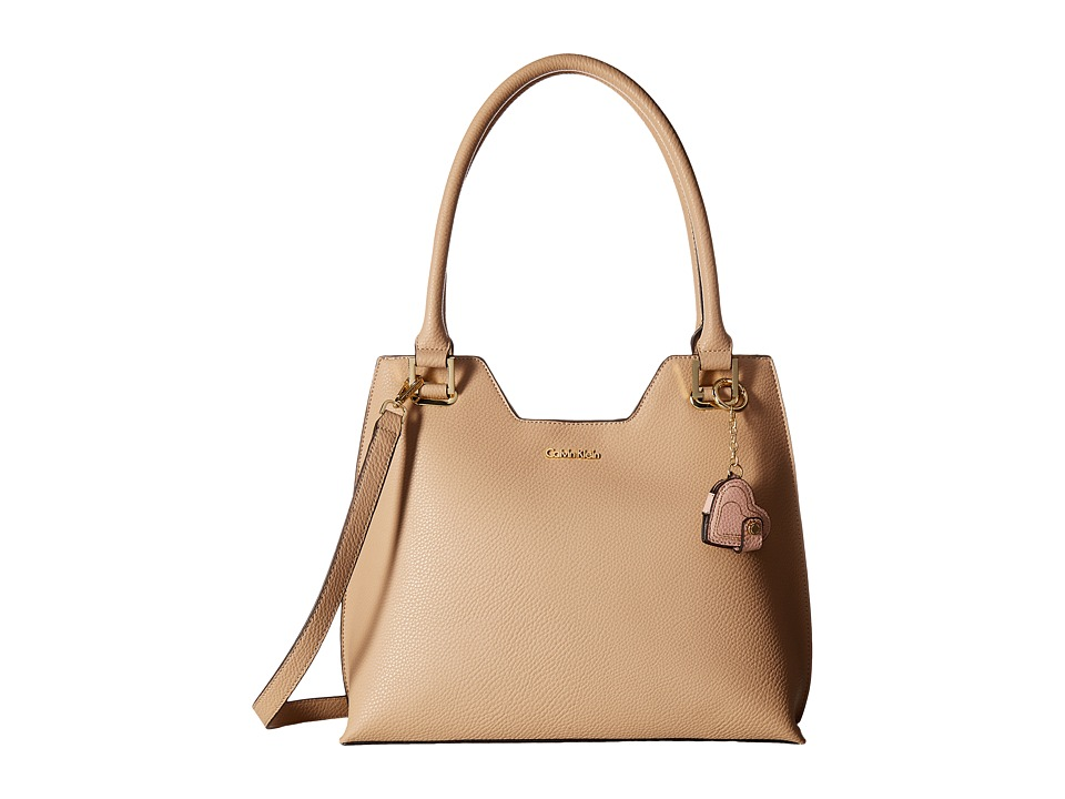 Calvin Klein - Monogram North/South Tote (Wheat) Tote Handbags