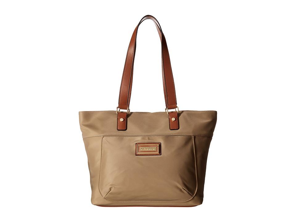 Calvin Klein - Belfast Dressy Nylon Tote (Light Khaki) Tote Handbags