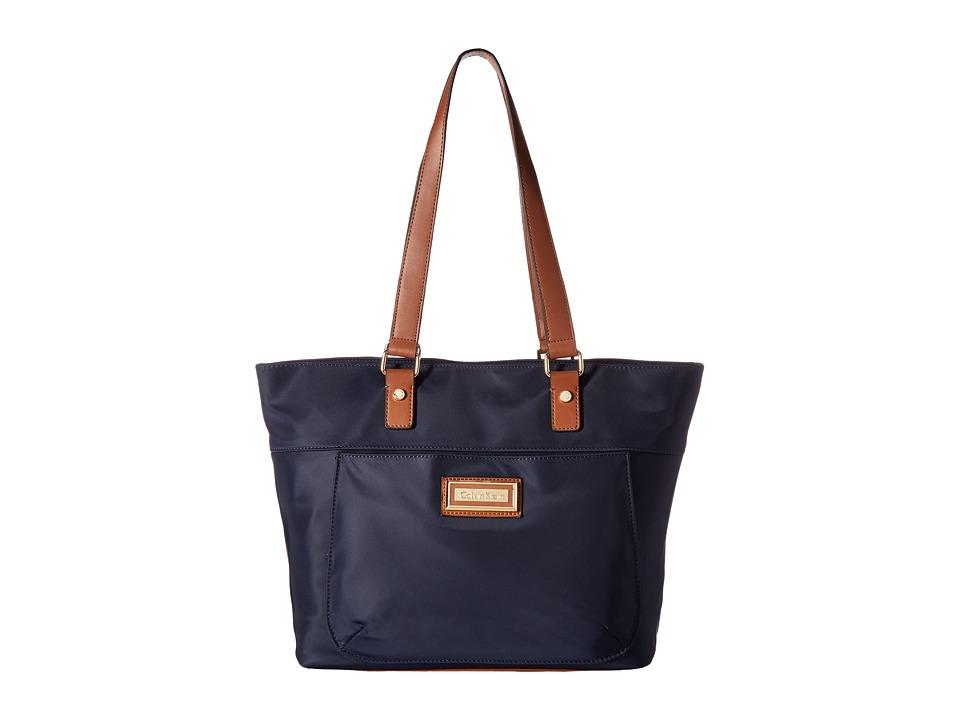Calvin Klein - Belfast Dressy Nylon Tote (Navy) Tote Handbags
