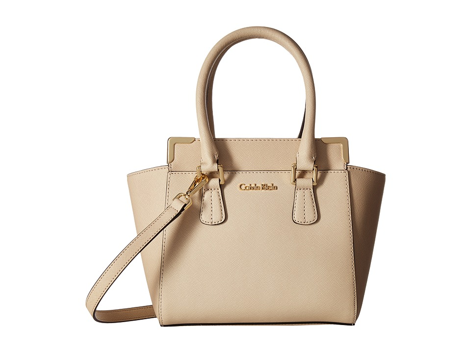 Calvin Klein - Saffiano Crossbody (Wheat) Shoulder Handbags