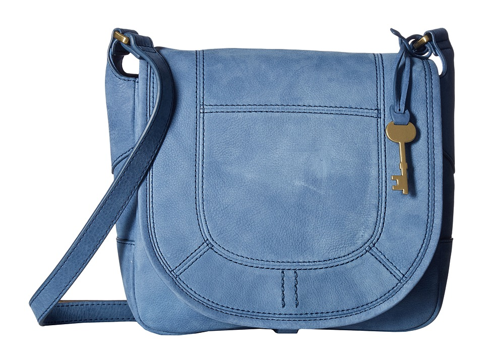 Fossil - Lennox Small Saddle Bag (Cornflower) Handbags