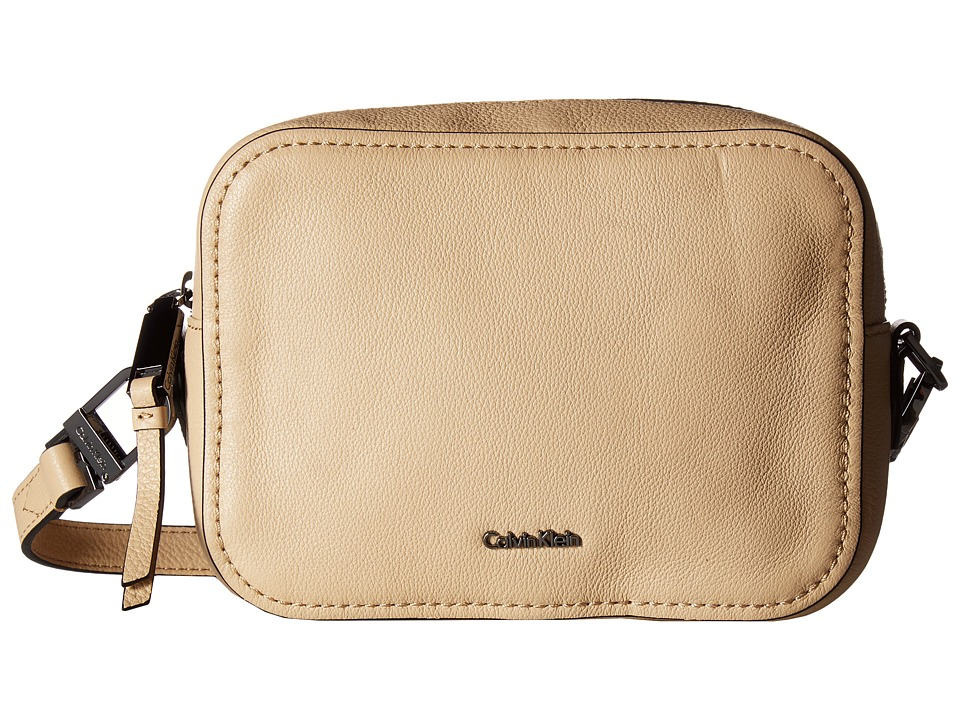 Calvin Klein - Erica Pebble Leather Camera Crossbody Bag (Nude) Cross Body Handbags