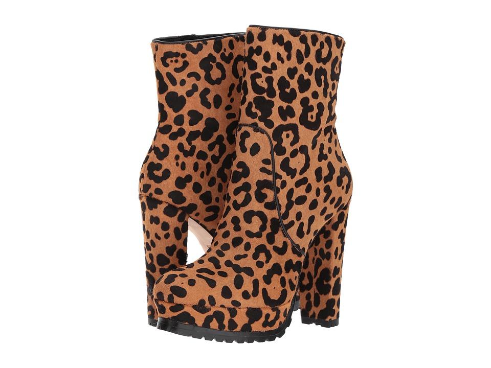 Alice + Olivia - Harper (Black/Camel Cheetah Print Hair Calf) Women's Shoes