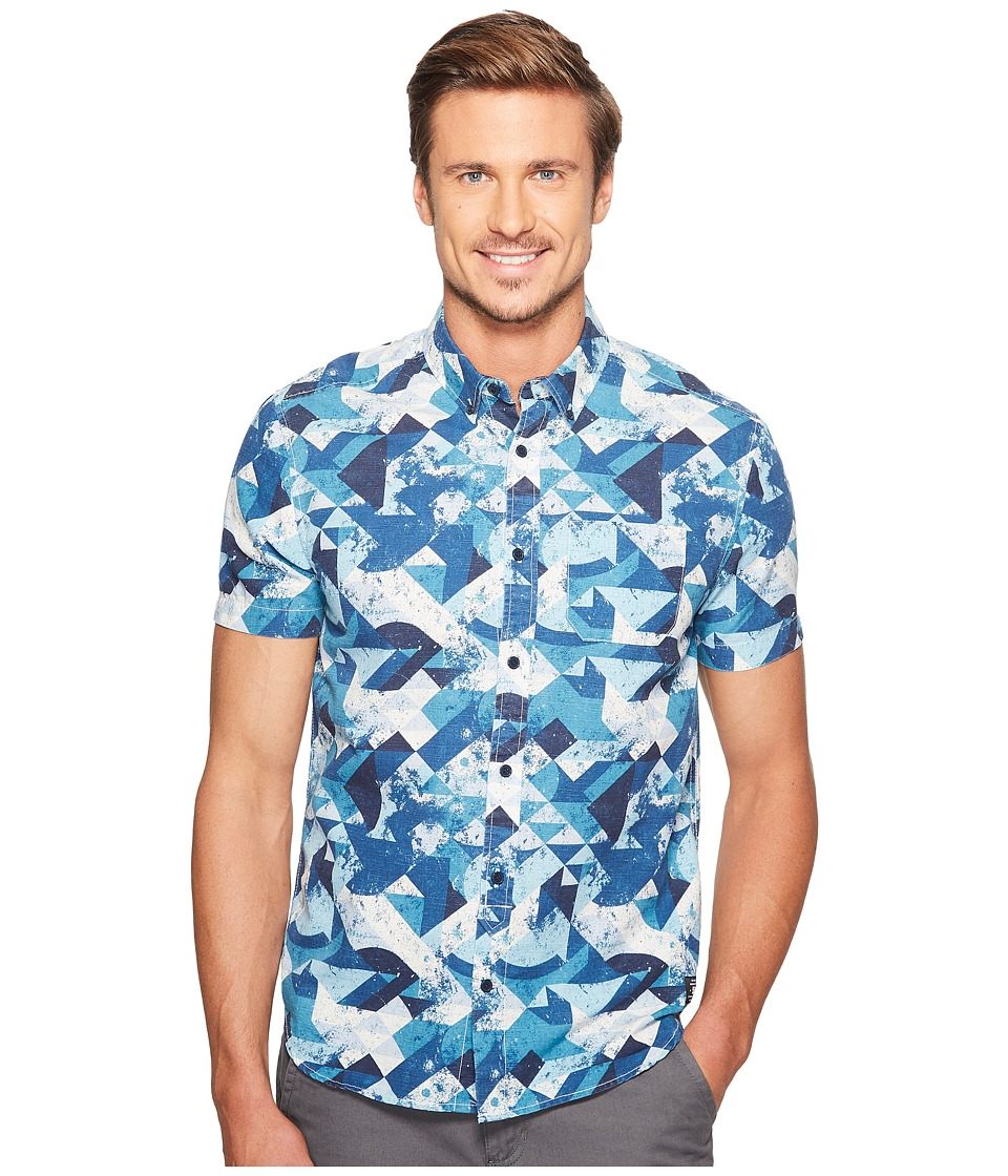 DC - Odanah Short Sleeve (Blue Geo Rusto) Men's Clothing
