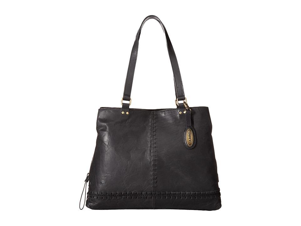 Born - Arcata Distressed Tote (Black) Tote Handbags