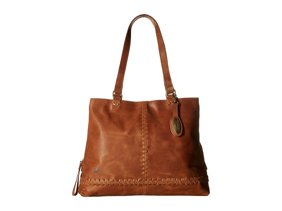 Born - Arcata Distressed Tote (Saddle) Tote Handbags