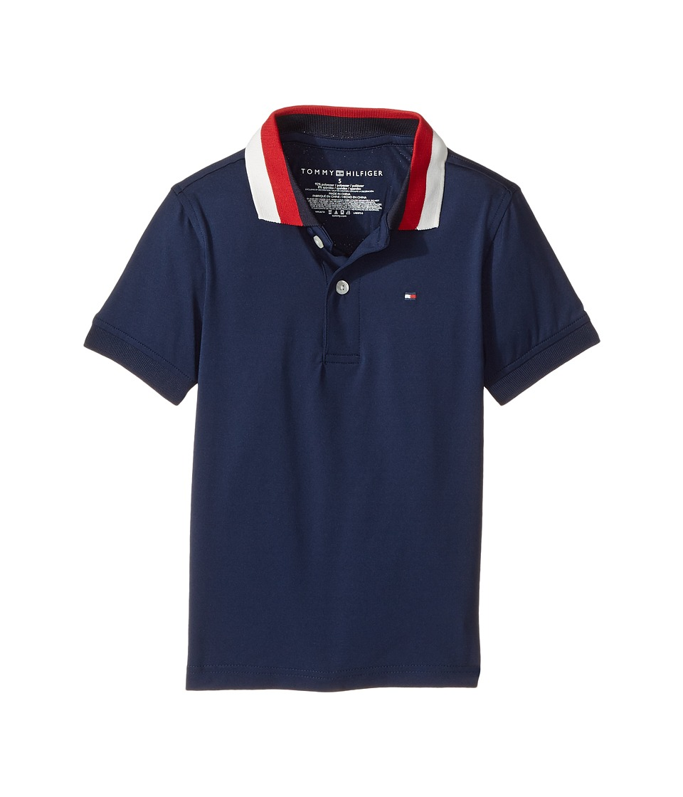 Tommy Hilfiger Kids - Solid Athletic Polo (Toddler/Little Kids) (Bank Blue) Boy's Clothing