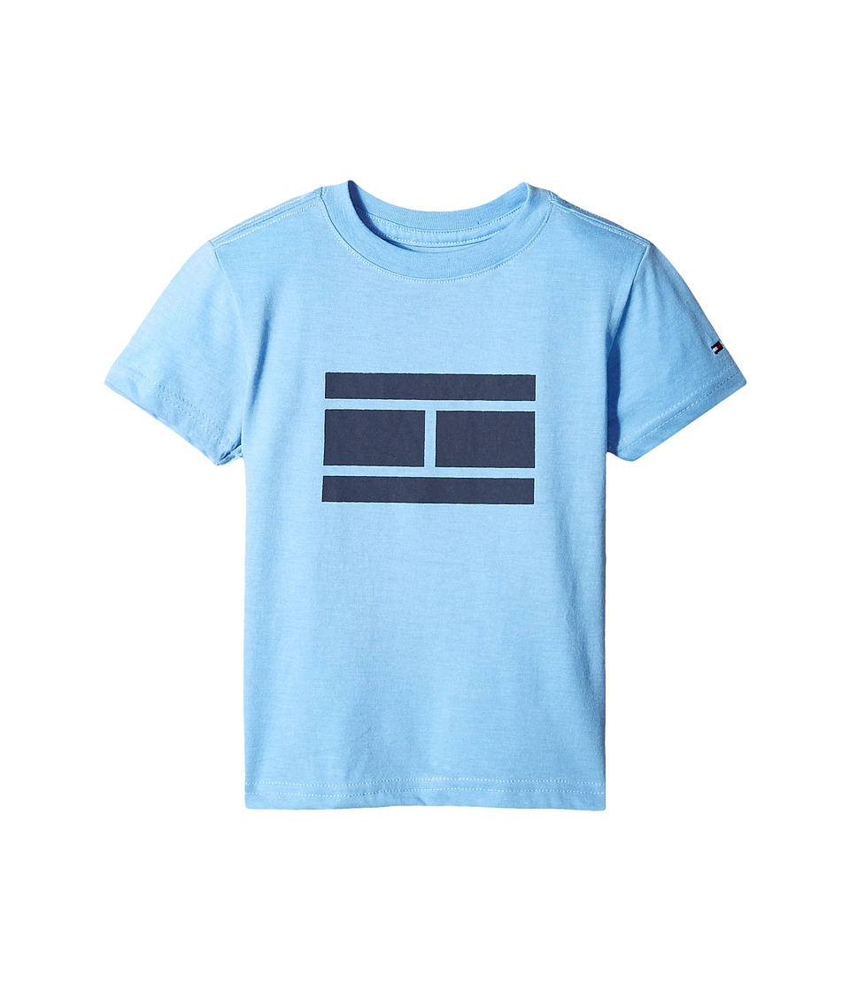 Tommy Hilfiger Kids - Tommy Bex Tee (Toddler/Little Kids) (Blue Dream Heather) Boy's T Shirt