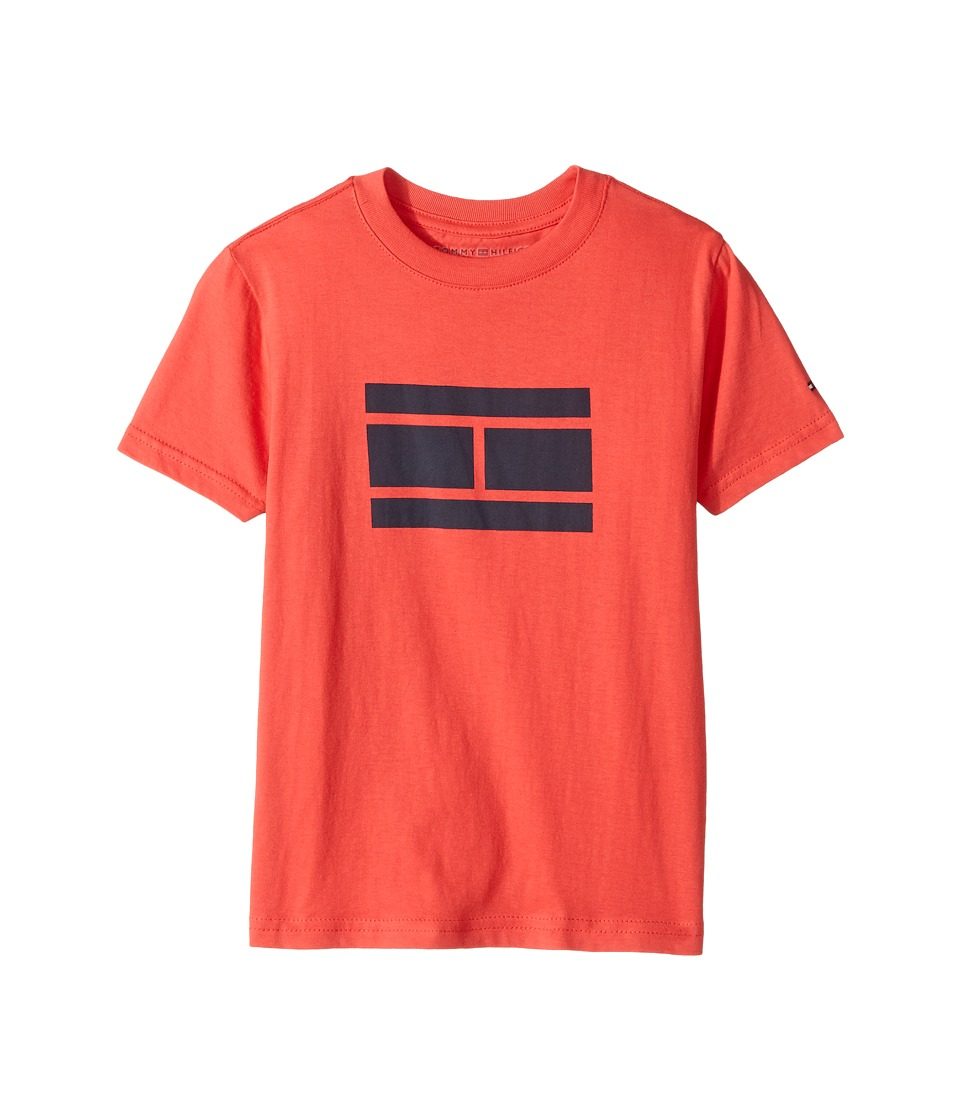 Tommy Hilfiger Kids - Tommy Bex Tee (Toddler/Little Kids) (Hibiscus Tea) Boy's T Shirt