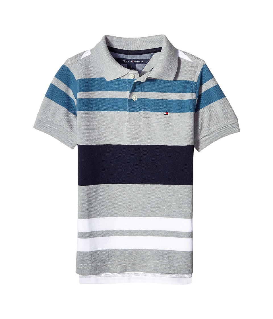 Tommy Hilfiger Kids - Gus Polo (Toddler/Little Kids) (Grey Heather) Boy's Clothing