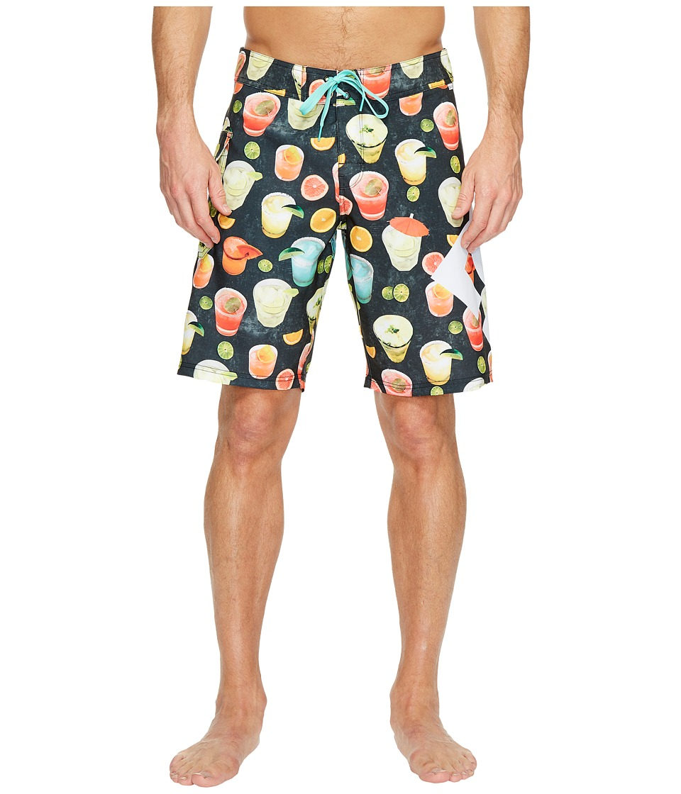 DC - Lanai 20 Print Boardshorts (Black Cocktail Print) Men's Swimwear